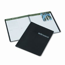 Earthscapes Weekly Appointment Book, 8-1/2 x 11, Black, 2013