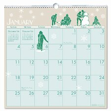 Illustrated Monthly Wall Calendar, 12 x 12, 2014