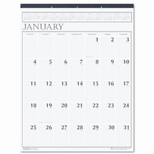 Large Print Monthly Wall Calendar in Punched Leatherette Binding, 20 x 26, 2015