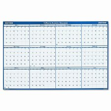Poster Style Reversible/Erasable Academic Yearly Wall Calendar, 24 x 37, 2013