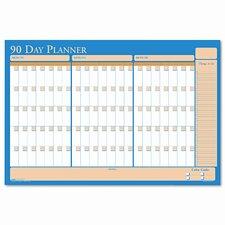 Nondated Reversible Laminated Organizer, 90/120 Day