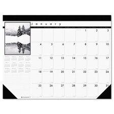 <strong>House of Doolittle</strong> Black-and-White Photo Monthly Desk Pad Calendar, 22 x 17, 2013