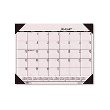 EcoTones Sunrise Rose Monthly Desk Pad Calendar, 22 x 17, 2013