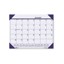 EcoTones Sunset Orchid Monthly Desk Pad Calendar, 22 x 17, 2013