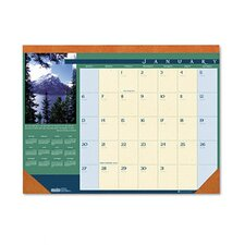 Landscapes Monthly Desk Pad Calendar, 22 x 17, 2014