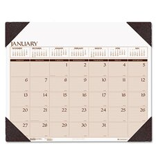 Executive Monthly Desk Pad Calendar with Alternating Page Colors, 24 x 19, 2013