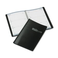 Weekly Appointment Book, 30-Minute Appointments, 5 x 8, Black, 2013