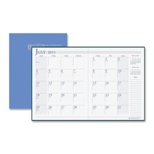 "Academic Stitched Cover Monthly Planners, 14 Mos, 7""x10"", Blue, 2013"