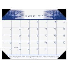 <strong>House of Doolittle</strong> Illustrated Desk Pad Calendar