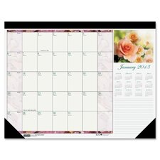 Beautiful Photographic Monthly Desk Pad Calendar, 2012