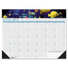 Earthscapes Sea Life Monthly Desk Pad Calendar, 18-1/2 x 13, 2012