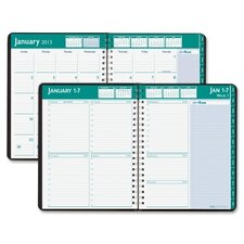 Express Track Weekly/Monthly Appointment Book, 8-1/2 x 11, Black, 2012