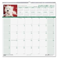 Earthscapes Puppies Monthly Wall Calendar, 12 x 12, 2012