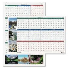 Laminated Nature Scenes Wall Calendar