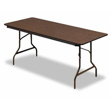 "Iceberg Economy Wood Laminate 72"" Rectangular Folding Table"