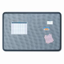 Gray with Black Polyethylene Frame Fabric 3' x 4' Bulletin Board