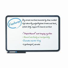 Ingenuity Black Resin Frame 3' x 4' Whiteboard