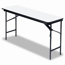 "<strong>Iceberg Enterprises</strong> Premium Wood Laminate 18"" x 72"" Folding Table"