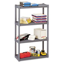 <strong>Iceberg Enterprises</strong> Rough N Ready 4 Shelf Open Storage System, Resin, 32W X 13D X 54H