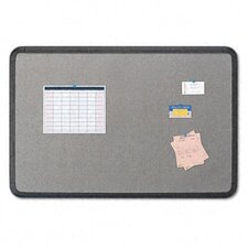 Fabric Bulletin Board, 36 x 24, Gray with Black Polyethylene Frame