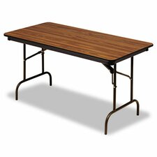 <strong>Iceberg Enterprises</strong> Premium Wood Laminate Folding Table, Rectangular, 60W X 30D X 29H