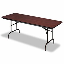 <strong>Iceberg Enterprises</strong> Premium Wood Laminate Folding Table, Rectangular, 72W X 30D X 29H