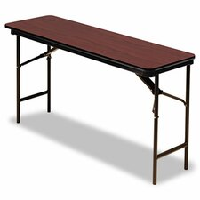 <strong>Iceberg Enterprises</strong> Premium Wood Laminate Folding Table, Rectangular, 60W X 18D X 29H