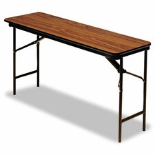 "Iceberg Premium Wood Laminate 60"" Rectangular Folding Table"