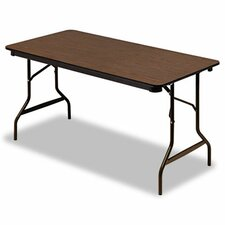 "Iceberg Economy Wood Laminate 60"" Rectangular Folding Table"