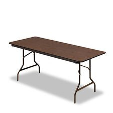 <strong>Iceberg Enterprises</strong> Economy Wood Laminate Rectangular Folding Table, Rectangular, 72W X 30D