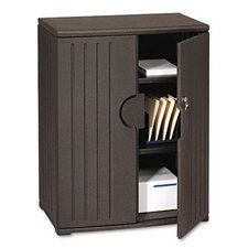 <strong>Iceberg Enterprises</strong> Officeworks Resin Storage Cabinet, 36W X 22D X 46H