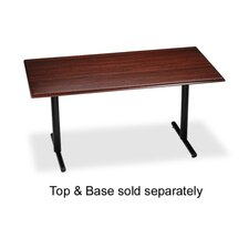 "T-Base, For Rectangular Table, 28""H, Black"