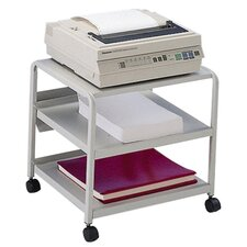 "<strong>Iceberg Enterprises</strong> Mobile Printer Stand, w/ Casters, 21""x16""x19"", Platinum"