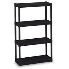 "Rough 'N Ready 54"" H Four Shelf Shelving Unit Starter"