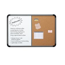 Combo Dry Erase/Fabric 2' x 3' Whiteboard and Bulletin Board