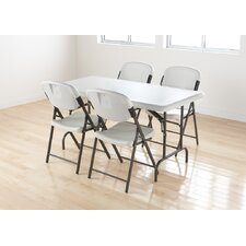 <strong>Iceberg Enterprises</strong> Economy Folding Chair in Platinum (Pack of 4)