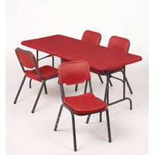 Stack Chair in Red (Pack of 4)