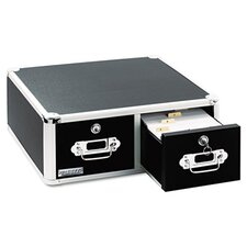 Vaultz Vaultz Locking 5 X 3 Two-Drawer Index Card Box
