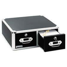 <strong>Ideastream Products</strong> Vaultz Vaultz Locking Two-Drawer Index Card Box