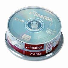 DVD+RW Disc, 25/Pack