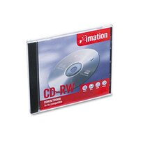 12381 CD-RW Disc, 700MB/80min, 4x, with Slim Jewel Case, Silver