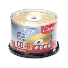 CD-R Disc, 700Mb/80Min, 52X, 50/Pack