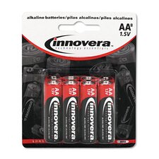 Alkaline Battery, Aa, 8/Pack