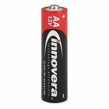 Alkaline Battery, Aa, 24/Pack