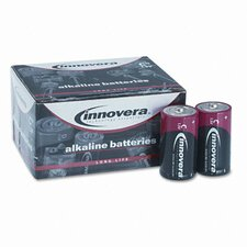 Alkaline Battery, C, 12/Pack