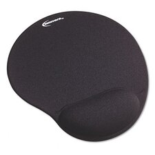 Mouse Pad with Gel Wrist Pad, Nonskid Base, 10-3/8 X 8-7/8