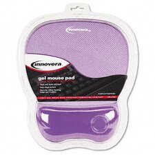 <strong>Innovera®</strong> Gel Mouse Pad with Wrist Rest, Nonskid Base, 8-1/4 X 9-5/8