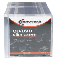 <strong>Innovera®</strong> CD/DVD Polystyrene Thin Line Storage Case