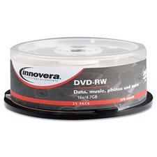 DVD-RW Disc, 25/Pack