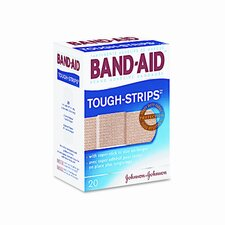 Flexible Fabric Adhesive Tough Strip Bandages, 1 x 3-1/4, 20 per Box
